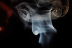 Abstract colorful smoke. On a black background Royalty Free Stock Photography