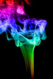 Abstract colorful smoke on black background Royalty Free Stock Photos