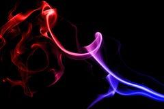 Abstract colorful smoke royalty free stock photos