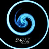 Abstract colorful smoke by spiral isolated. On black background. Vector Royalty Free Stock Photos