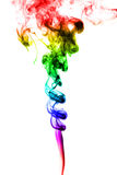 Abstract colorful smoke on white background Royalty Free Stock Photography