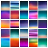 Abstract colorful smooth blurred vector backgrounds for design .  illustration. 25 abstract colorful smooth blurred vector backgrounds for design . aabstract Royalty Free Stock Photography