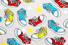 Abstract colorful sneakers pattern