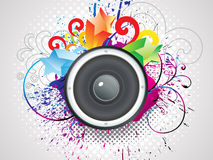 Abstract colorful sound with grunge Royalty Free Stock Photo