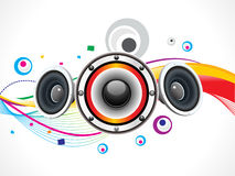 Abstract colorful sound wave Stock Image