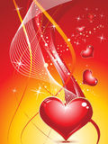 Abstract colorful sparckle hearts Royalty Free Stock Image