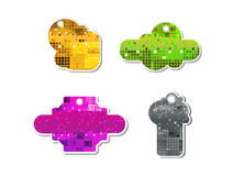 Abstract colorful sparkle sale tag Royalty Free Stock Photo