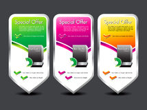 Abstract colorful special offer banner Stock Photography