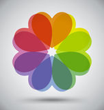 Abstract Colorful Spectrum Flower Heart Stock Photography
