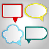Abstract colorful speech balloons banners Stock Images