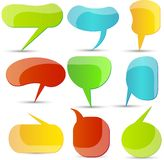 Abstract colorful speech bubble Stock Image