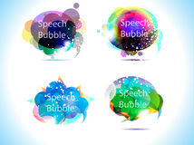 Abstract colorful speech bubble Stock Photos
