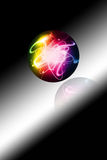 Abstract colorful sphere w Royalty Free Stock Photo