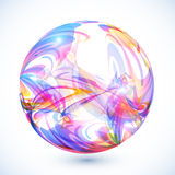 Abstract colorful sphere on white background Royalty Free Stock Photo