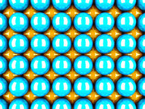Abstract Colorful Spheres Pattern Wall Background. 3d Render Illustration Stock Images
