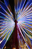 Abstract Colorful Spinning Ferris Wheel. Time lapse and zoom Royalty Free Stock Photo