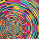 Abstract Colorful Spiral Psychic Circle Optical Illusion Background Pattern Texture. Abstract Colorful Spiral Psychic Circle Optical Illusion Vector Background royalty free illustration