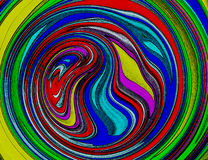 Abstract Colorful Spiral Swirl Background Wallpaper. Abstract Color, Swirl Background, Colorful Abstract Swirl Wallpaper. Abstract Multi Colored Swirl Background Stock Photo