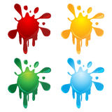 Abstract colorful  splash Stock Images