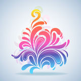 Abstract colorful splash design Royalty Free Stock Photo