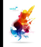 Abstract colorful splash illustration. Stock Images