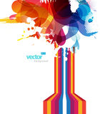 Abstract colorful splash illustration. Stock Photo