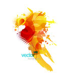 Abstract colorful splash illustration. Royalty Free Stock Images