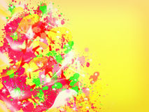 Abstract colorful splatter background Royalty Free Stock Photos