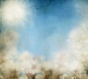Abstract colorful spring background - vintage photo Royalty Free Stock Photos