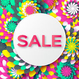 Abstract colorful Spring Summer Sale colorful banner for business. Royalty Free Stock Images