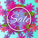 Abstract Colorful Spring Summer Sale colorful banner for business vector illustration