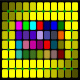 Abstract colorful square background Stock Images