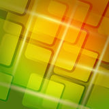 Abstract colorful square background. Colorful abstract background with rounded rectangle elements stock illustration