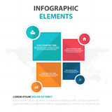 Abstract colorful square business Infographics elements, presentation template flat design vector illustration for web design. Marketing advertising royalty free illustration