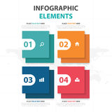 Abstract colorful square business Infographics elements, presentation template flat design vector illustration for web design. Marketing advertising stock illustration