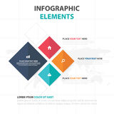 Abstract colorful square business timeline Infographics elements, presentation template flat design vector illustration for web. Design marketing advertising royalty free illustration
