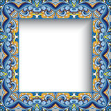 Abstract colorful square frame Stock Photos