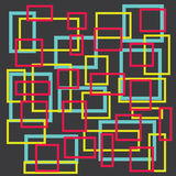 Abstract colorful square on gray background Stock Images