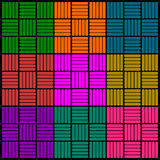 Abstract colorful square pattern. Background Stock Illustration