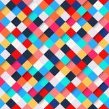 Abstract colorful square pattern background Royalty Free Stock Photo