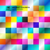 Abstract colorful square pattern background. Vector illustration Royalty Free Illustration