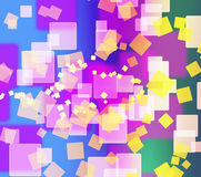 Abstract colorful square shape background Royalty Free Stock Photo