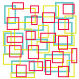 Abstract colorful square on white background Royalty Free Stock Image