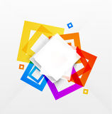 Abstract colorful squares background Stock Photos