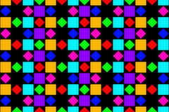 Abstract colorful squares, and diamonds. Stock Photos
