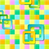 Abstract colorful squares pattern design. Vector background Stock Photography