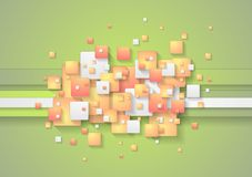 Abstract colorful squares vector background Stock Photos