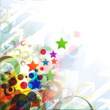 Abstract colorful star background Stock Photo