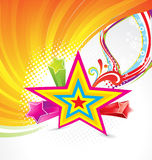 Abstract colorful star background Royalty Free Stock Images