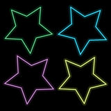 Abstract colorful star on black background Stock Images